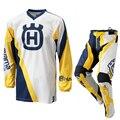 Husqvarna Husky Estilo Motobiker Motocross Corrida Terno Camisa + Calça de Manga Comprida Camisa De Corrida Roupa Da Motocicleta MX