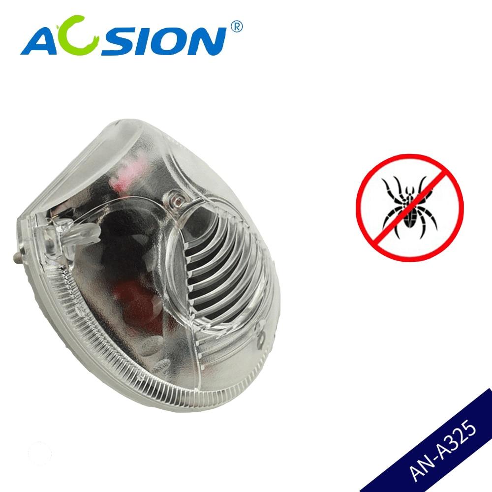 Δωρεάν αποστολή Aosion Indoor GS Plug Υπερήχων Ηλεκτρομαγνητική Pest Spider Cockroach Fly Εντομοαπωθητικό Moth με Night Light