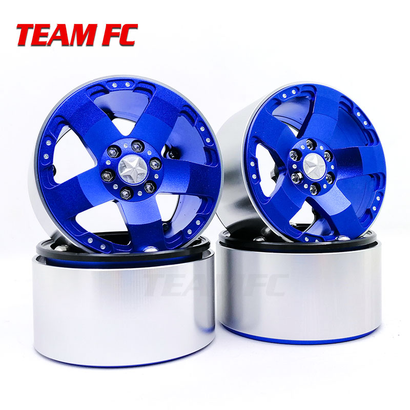 2.2 Inch RC 1:10 Rock Crawler Alloy Wheels Rims For RC Crawler Axial SCX10 Wraith 90018 Beadlock Wheels Hub S351