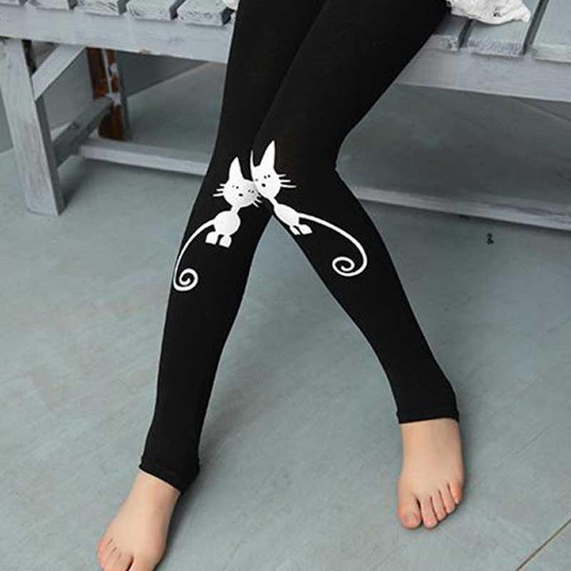 Girls Leggings Spring Dancing Foot Pants Elastic Force Legging For Girls Clothes Cartoon