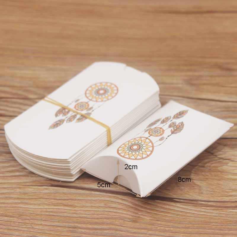 10 قطعة من أكياس حفظ المجوهرات لحظي سعيد ، صندوق ورقي لحمل أكياس الحلوى على شكل المربل ، صندوق حفظ الهدايا على شكل أزهار