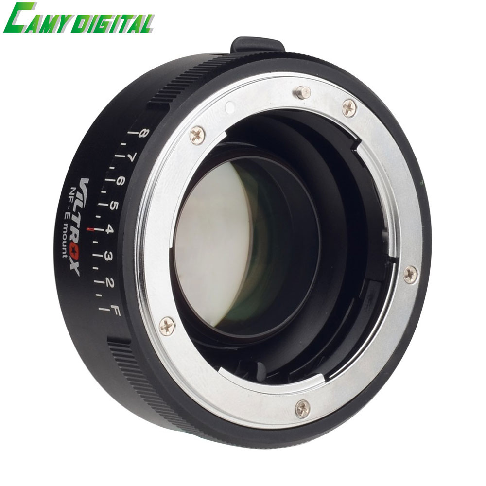 VILTROX NF-E Manual-focus F Mount Lens Adapter Telecompressor Focal Reducer Speed Booster For Sony NEX-F3/N3/3/C3/5/5C 60mm f 2 8 2 1 2x super macro manual focus lens for micro 4 3 m43 panasonic dmc gf2 gf1 g2 gf3 g5 gh4 gh3 e m5 ep 3 e pl3