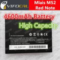 Mlais M52 battery 4600mAh High Large Capacity Red Note 100% Original New Cell Phone Replacement backup Bateria
