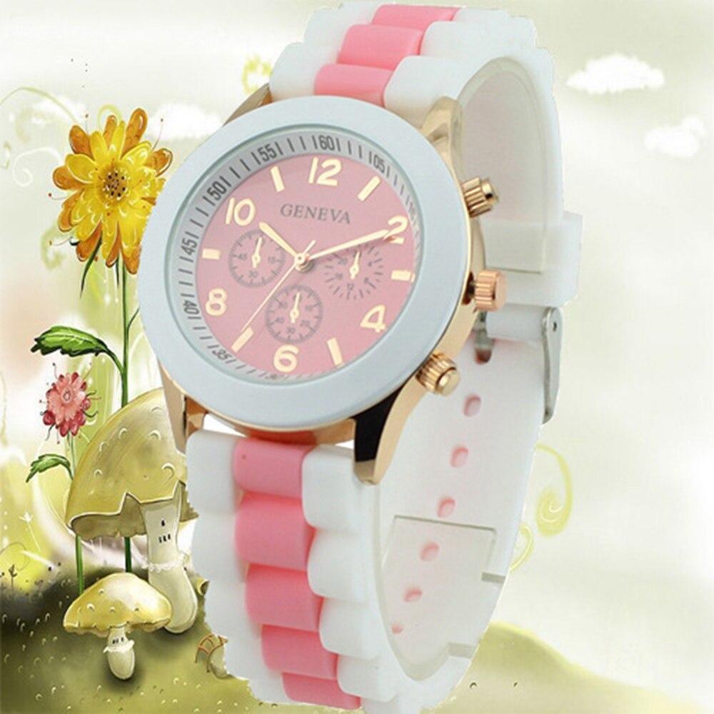 Women's Watches 2018 New Fashion Girls Clock Silicone Watchband Quartz Wristwatches Hot Reloj Zegarek Damski