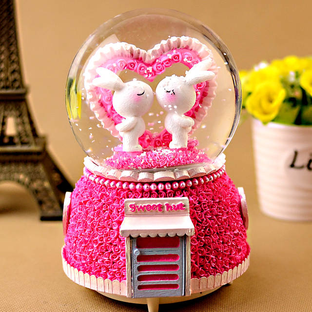 Crystal Ball Music Box Manualidades Creative Birthday Gift Girlfriend Boyfriend Romance Craft Mothers Day Git