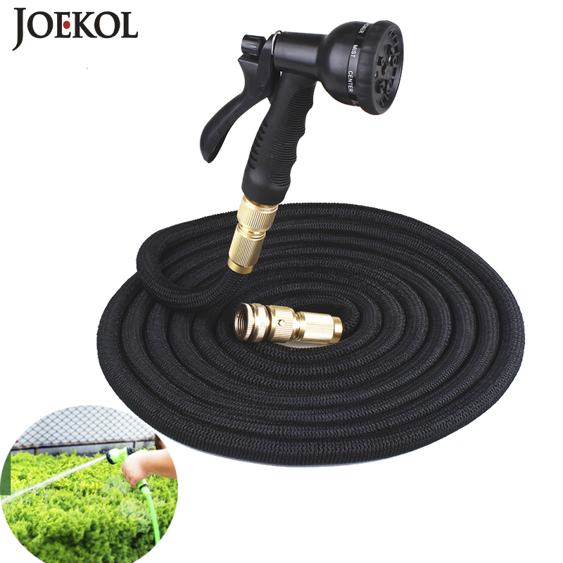 2019New Expandable Water Hose Garden Magic Flexible Hose Eu Plastic Hoses Pipe With Spray Gun To Watering(China)