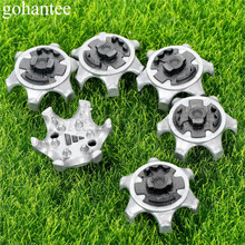 14pcs /Lot Golf Shoe Spikes Golf Spikes Pins 1/4 Turn Fast Twist Cleats Shoes Spikes Tool Replacement Golf Training Accessories
