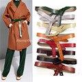 8 Цвет Дизайнер Натуральная Кожа Chic Широкий Взлетно-Посадочной Полосы стиль Пояс XS S M