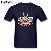 High Quality Tshirts Men Man S White Short Sleeve Custom My Hero Academia All Might Group