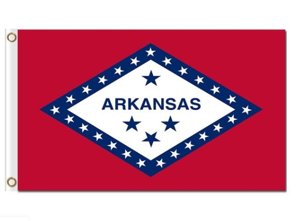 Us Flag Store <font><b>Arkansas</b></font> Flag 3ft x 5ft image