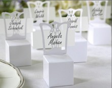 1000pcs/lot white chair shaped wedding favor party gift candy box sweet boxes without card wc054