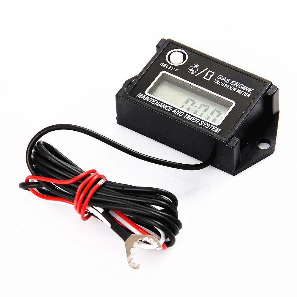 SPARK PLUGS WATERPROOF ENGINE Digital TACH HOUR METER Tachometer – Digital Tachometer Wiring Spark Plug