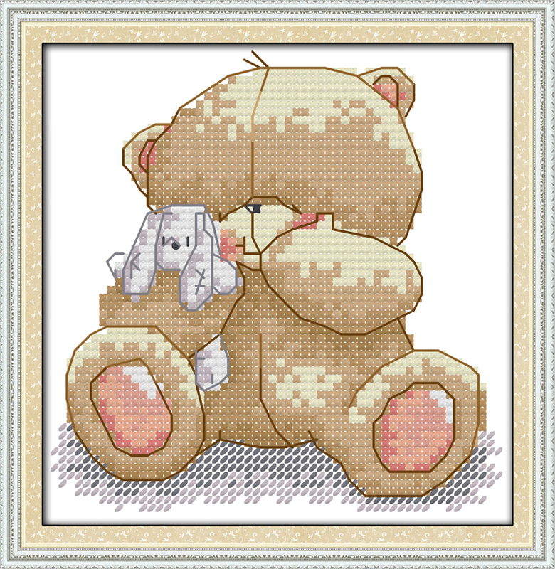 ᗑAlegría Domingo estilo de dibujos animados lindo oso Navidad Cruz ...