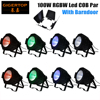 Discount Price 8PCS 100W COB Led Par Cans Indoor IP20 Silent Working Smooth Dimmer 4in1 Color