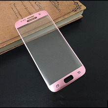 New 3D Film Tempered Glass For Samsung Galaxy S6 S7 Edge Full Cover Curved surface Clear 0.22 mm Safety Screen Protector