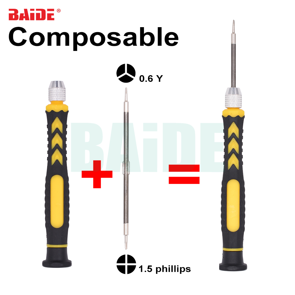New Arrived Double Head 2 in 1 Combination Screw driver 0 6Y 1 5Phillips for 7