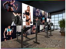 Custom 3d wallpaper for walls 3 d wall murals wallpaper mural Sexy beauty gym yoga cafe pavilion American background wall murals
