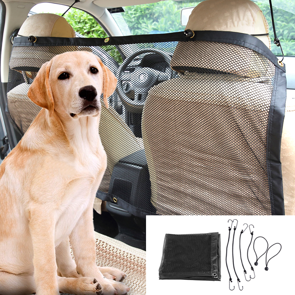 Car Pet Isolation Network Car Auto Back Guard Seat Dog Children Mesh Safety Oxford Net Barrier Car Mesh for Pet Dog Dropship