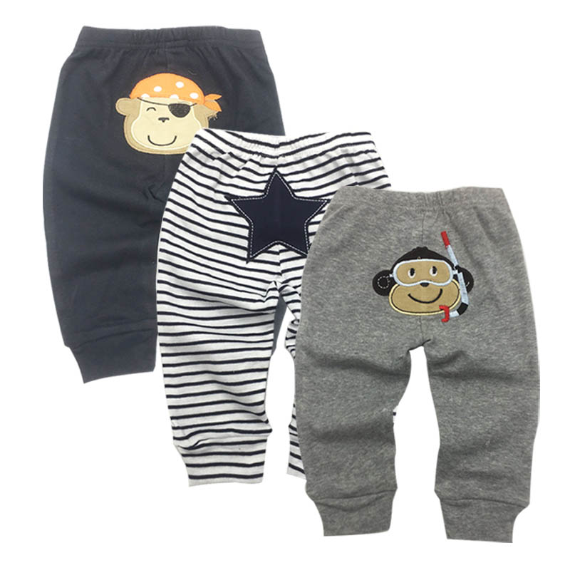 3 Packs Unisex Baby Pants Spring Summer Kids Harem PP Trousers Cotton Knitted Boy Girl Toddler Leggings Newborn Infant Clothing(China)