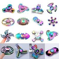 2017 3 Colours Tri Spinner Finger Spinner Triangle Handspinner Fidget Hand Spinner Zinc Alloy Fidget Toy