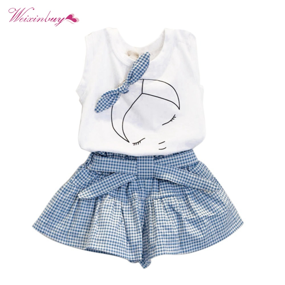 2a7f360b445a 2pcs summer baby girl clothing set fashion Cotton print shortsleeve T shirt  and skirts girls clothes -in Clothing Sets from Mother   Kids on  Aliexpress.com ...