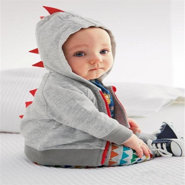 Alta calidad del bebé infantiles del algodón abrigos y chaquetas de abrigo de primavera otoño outwear niño lindo ropa de los cabritos encapuchados niño/niña clothing