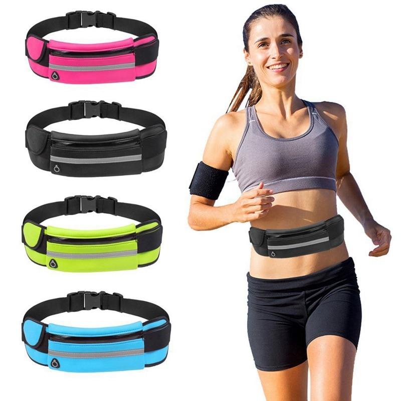 Outdoor Running Waist Bag Waterproof Mobile Phone Holder Belt Belly Bag Women Gym Fitness Bag Lady Sport Accessories Phone Case