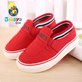 Free Shipping 2015 Sping bordered solid slip on soft canvas baby girls boys first walkers toddle infant children sneakers shoes