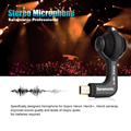 Saramonic Professional Stereo Microphone with Microphone Windscreen for GoPro HERO3 HERO3+  HERO4 Cameras