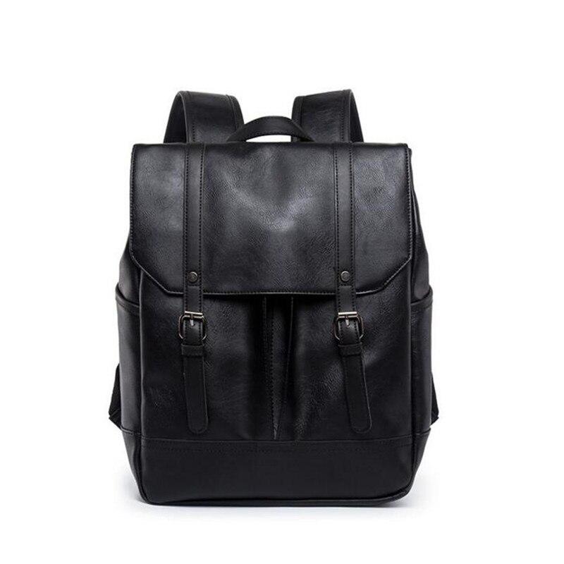 Vintage 2018 sac à dos hommes voyage sac à dos école hommes en cuir sac d'affaires grand ordinateur portable sac de voyage noir café