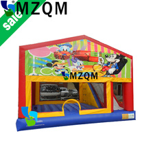 MZQM cheap inflatable bouncer for sale commercial inflatable combo Castle With Slide
