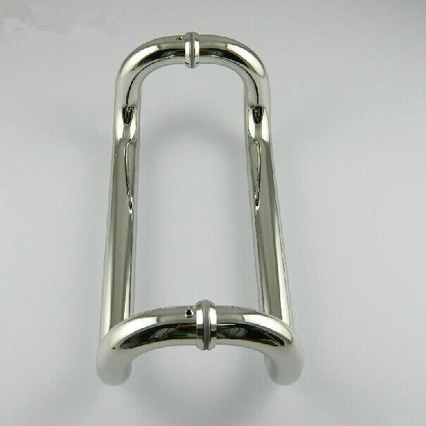 450mm Elbow stainless steel big gate door handles bright KTV office hotel wood door glass door pulls handles