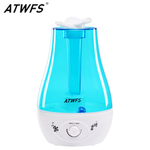 ATWFS 3L 가습기 가정용 에센셜 오일 디퓨저 미스트 메이커 용 초음파 아로마 디퓨저 가습기 Fogger LED Lamp