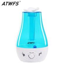 Atwfs 3L空気加湿器超音波アロマディフューザー加湿器エッセンシャルオイルディフューザーミストメーカー噴霧器ledランプ