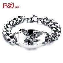 Europea boutique de accesorios alas de águila de acero inoxidable de fundición titanium pulsera para hombres gs802