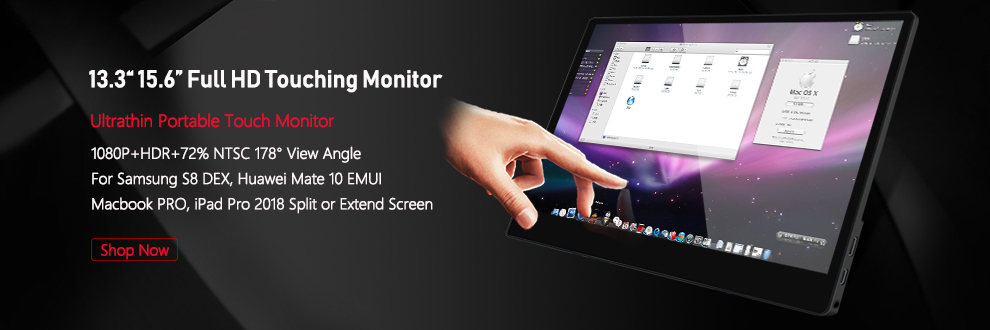 15.6inch 1920X1080P FHD with Touching Function Mini Portable Monitor Screen for PS4/Switch/Samsung DEX/Huawei EMUI/Hammer TNT 23