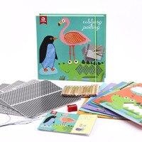 Oyuncaklar ve Hobi Ürünleri'ten Çizim Oyuncakları'de Çocuk yaratıcı DIY manuel sürtme boyama hediye kutusu boyama seti şablon çocuk eğitici oyuncaklar