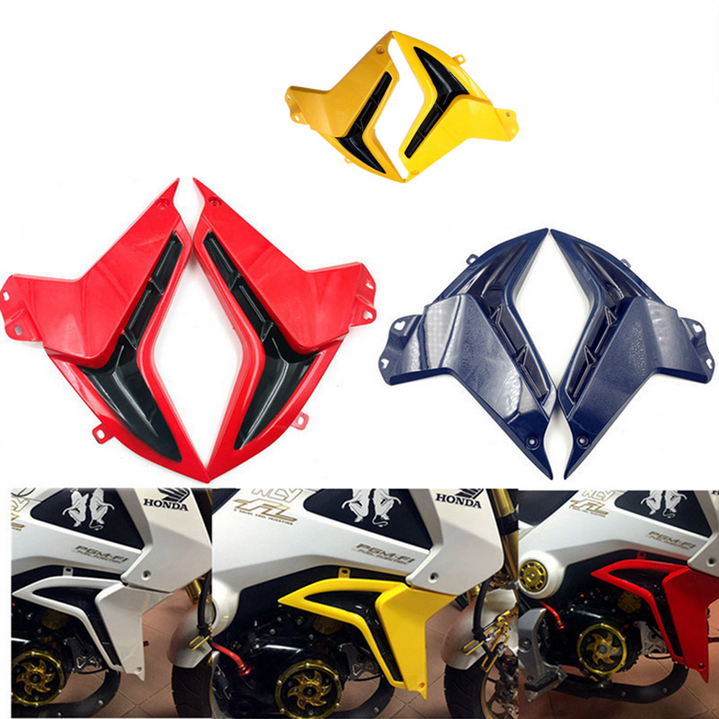 1Pair Motorcycle ABS Fuel Tank Side Cover Protective Decorative Side Plate Cover For HONDA MSX125 MSX 125 2014- 2015 Years mp022 universal diy motorcycle decorative fuel tank cap cover golden 2 pcs