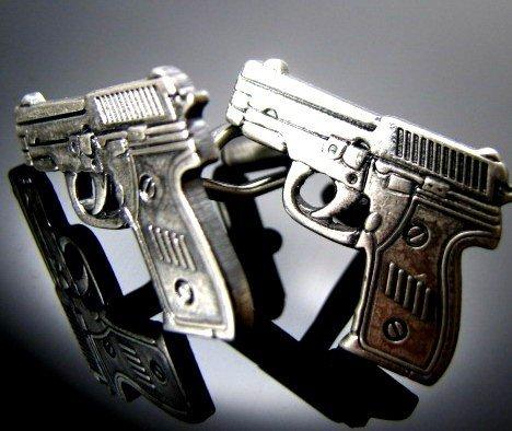 Men Gun Cufflink