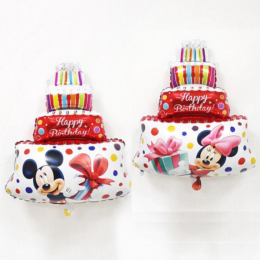 JF Free Shipping New 1pcs Mini Minnie Mickey. Cake Aluminum Balloon Children Toys Party Birthday Decorative Balloon Wholesale