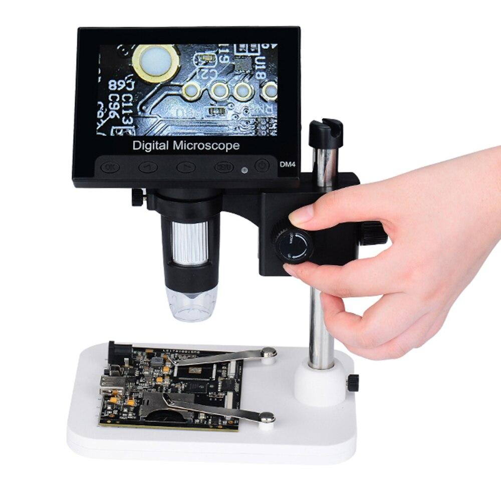 1000X4.3 ''HD720P LCD Microscope numérique Portable bureau électronique Endoscope loupe DM04