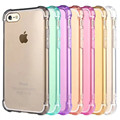 Para iphone 7/7 plus sujeira/choque/drop prova gasbag canto crystal clear tpu armadura case para iphone 6 6 s plus 5 5S se tampa do telefone