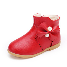 2018Winter New Kids Boots Little Baby Boot for Girls Warm Plush Snow boots Children Winter Shoes 2 3 4 5 6 7Years black pink red