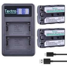 Tectra 2 шт. NP-FM500H литий-ионный Батареи для камеры + ЖК-дисплей USB двойной Зарядное устройство для Sony A57 A65 A77 A450 A560 A580 A900 A58 A99 A550 A200 A300