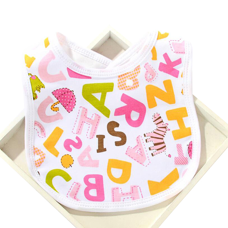 6Pcs/Lot Newborn Baby Bibs Girl Boy Waterproof Bib Infant Washable Cotton Burp Cloth For Kids Cartoon Pattern Saliva Towel BWD04 ...
