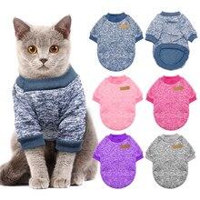 Теплая одежда для кошек собак осень-зима Одежда для домашних животных свитер для маленьких собак кошек Чихуахуа мопса Йоркских котят костюм для кошек