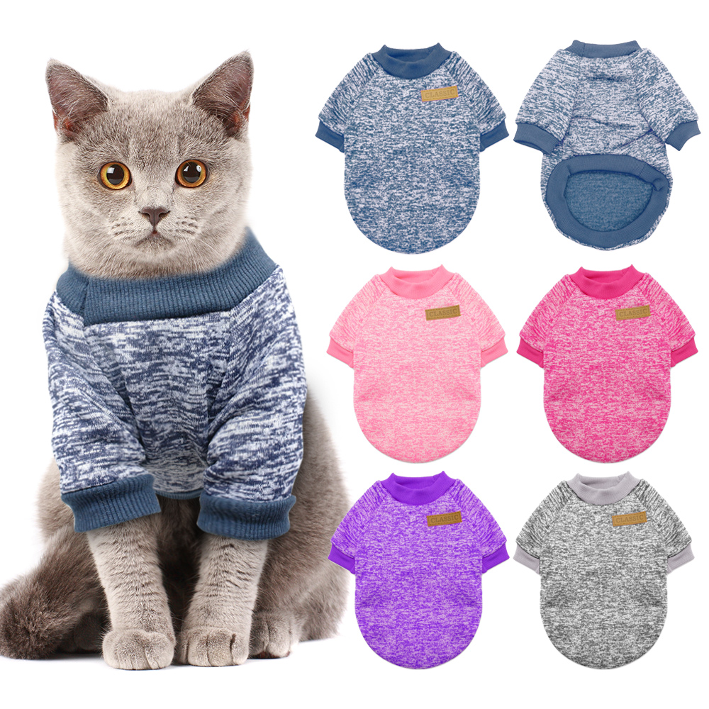 Warm Dog Cat Clothing Autumn Winter Pet Clothes Sweater For Small Dogs Cats Chihuahua Pug Yorkies Kitten Outfit Cat Coat Costume fishtail braid with hair accessory