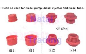 Image 4 - common rail injector nozzle screw joint dust cap, diesel pump dust cap, oil tube dust proof plug diesel repairing tool