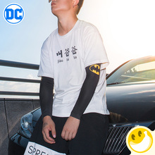 Justice Alliance Theme Marvel style Ice Silk Sleeve Sunscreen Fingerless Gloves Women Long Cuff Arm Driving Sport Gloves