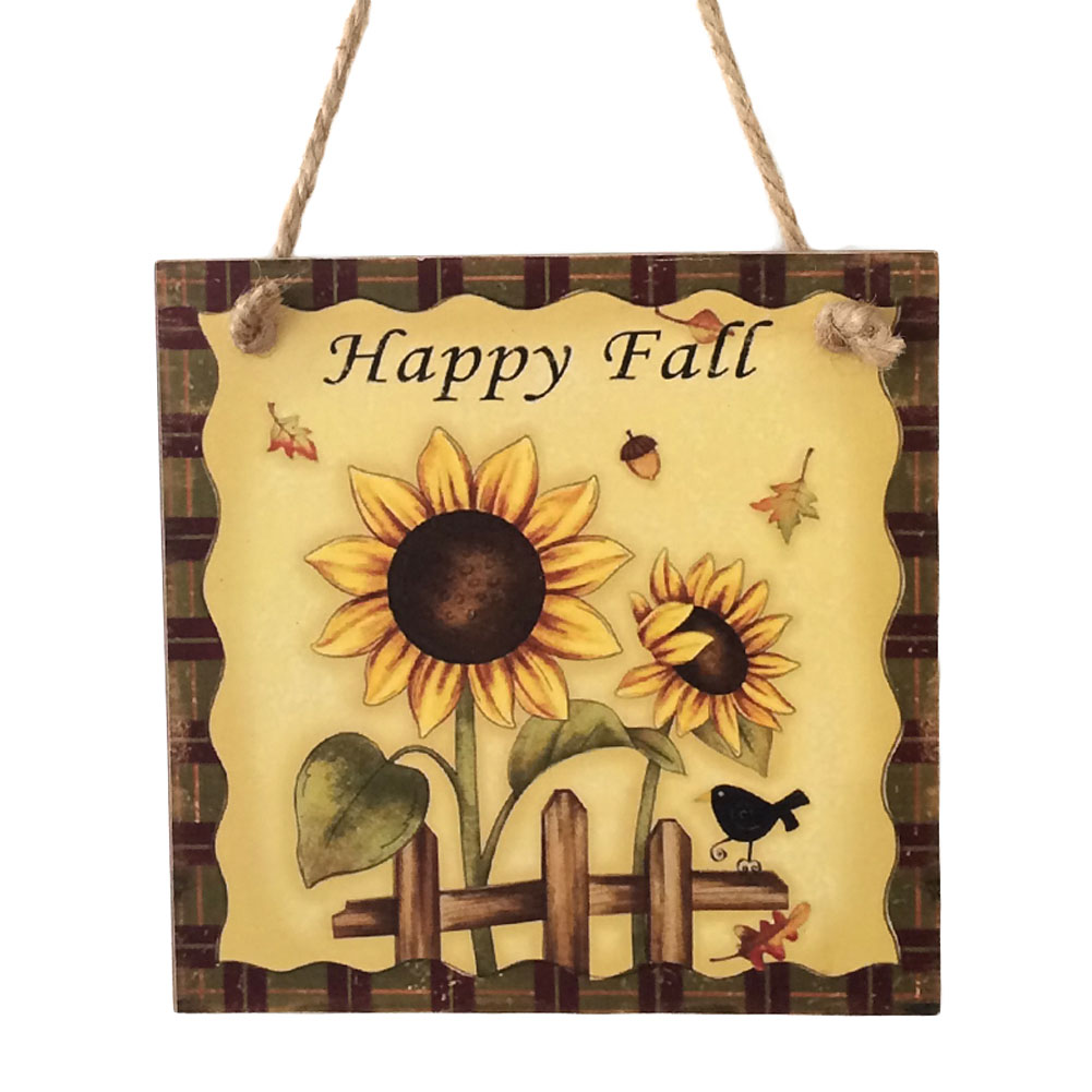 Home Decoration Supplies Wooden Plaque Harvest Sunflower Hanging ...